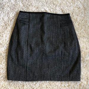 Express Gray Mini Skirt Dress Pleats Excellent 4